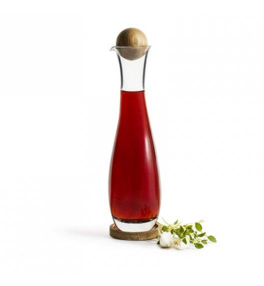 WYPRZEDAŻ! SAGAFORM Szklana karafka z dębowym korkiem do octu i oliwy 0,45 l NATURE / FreeForm