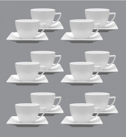 LUBIANA CLASSIC Komplet 12 Filiżanek 280 ml + spodki 15 cm / 24 el / 12 os / porcelana