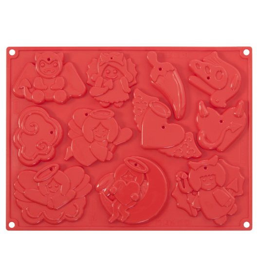 WYPRZEDAŻ! PAVONIDEA SACRUM Foremka świąteczne ciasteczka 11 wzorów / silikon / Btrzy