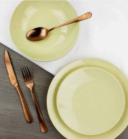 KAIA Komplet obiadowy 3 el dla 1 osoby / żółty / ceramika