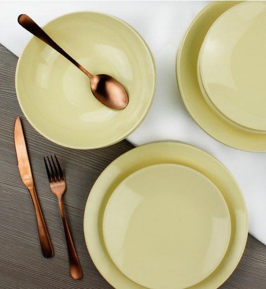 KAIA Komplet obiadowy 12 el dla 4 osób / żółty / ceramika