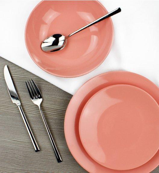 KAIA Komplet obiadowy 3 el dla 1 osoby / koralowy / ceramika