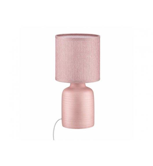 DOMOTTI LIVING Lampka stojąca 15 x 30 / różowa / ceramika / 69201