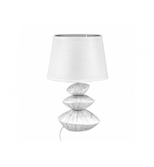 DOMOTTI LIVING Lampka stojąca 23 x 36 cm / biała / ceramika / 69208