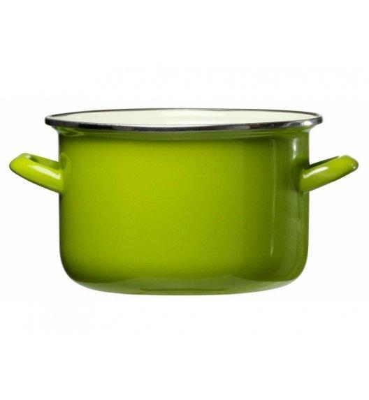 DOMOTTI VIGO Garnek emaliowany 1,8 l / 16 cm / zielony / indukcja / 65414