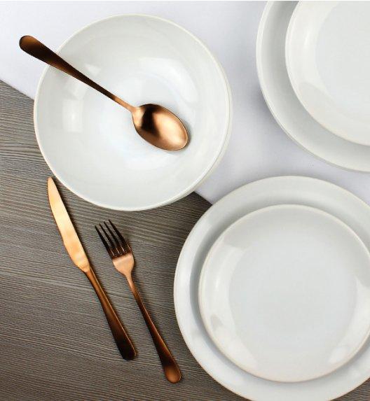 KAIA Komplet obiadowy 18 el dla 6 osób / biały / ceramika