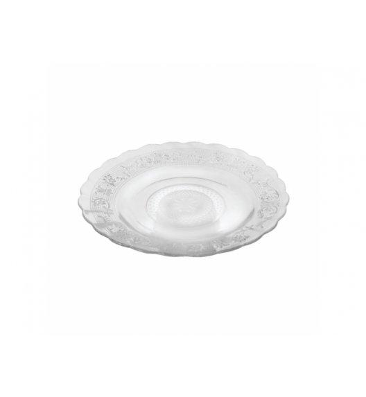 DOMOTTI Talerz deserowy 18 cm / okrągły / szkło / 68450