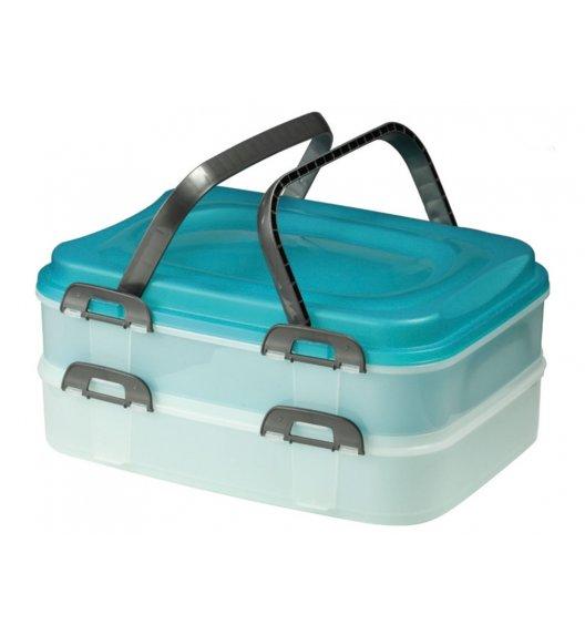 DOMOTTI DOLCE Dwupiętrowy pojemnik na ciasto 40 x 30 x 18 cm / tworzywo sztuczne / 34000