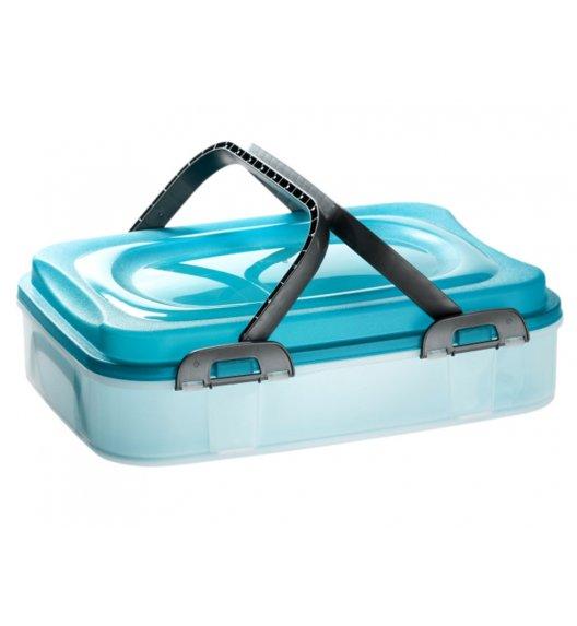 DOMOTTI DOLCE Pojemnik na ciasto 39 x 28,5 cm / niebieski / tworzywo sztuczne / 90123