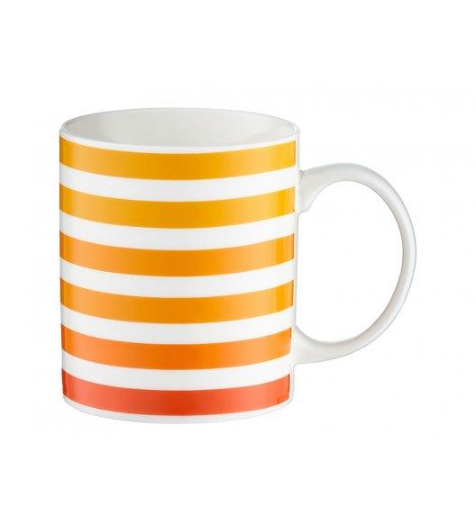 DOMOTTI JUICY Kubek 350 ml / porcelana / pomarańczowe paski / 39945