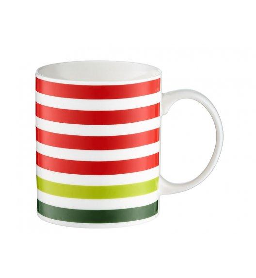 DOMOTTI JUICY Kubek 350 ml / porcelana / czerwone paski / 39946