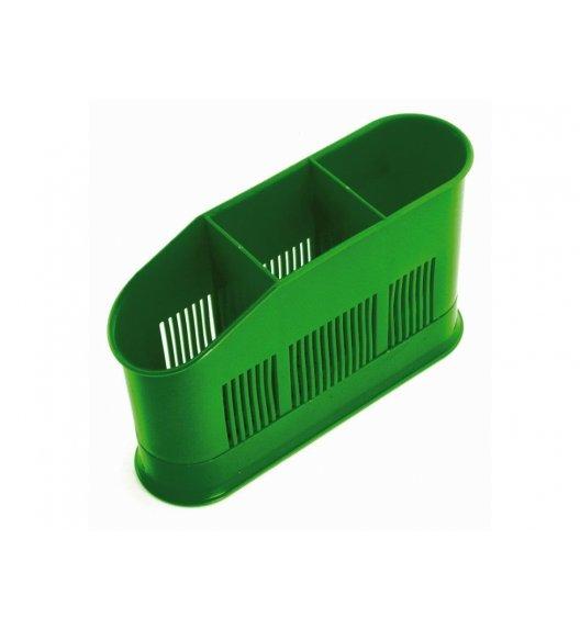 DOMOTTI ASCA Ociekacz na sztućce 3 komory 13 cm / zielony / 698952