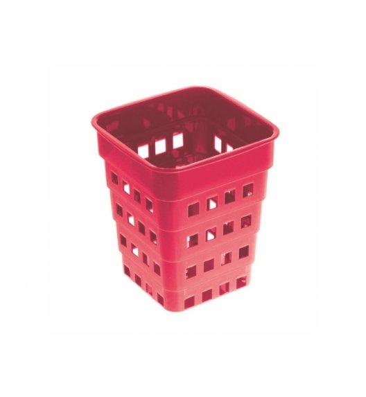 DOMOTTI MARY Ociekacz na sztućce 1-komorowy 14 cm / czerwony / 699466
