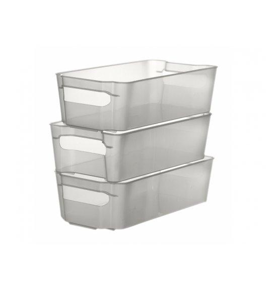 DOMOTTI NATI Zestaw 3 pojemników do lodówki 32 x 16 cm / transparentny / 698539