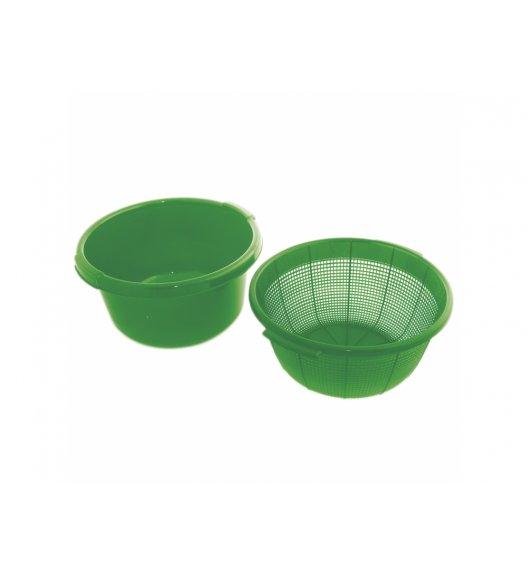 DOMOTTI OTELLO Komplet Durszlak + miska Ø 29,5 cm / zielony / tworzywo sztuczne / 698905