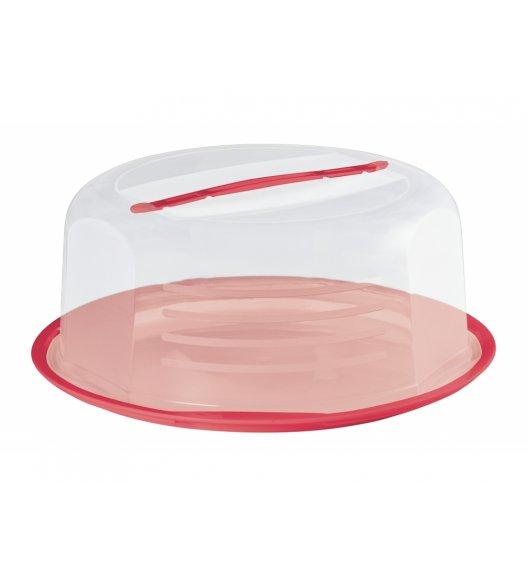 DOMOTTI DOLCE Okrągły pojemnik na ciasto z pokrywką Ø30 cm / czerwony / tworzywo sztuczne / 698910