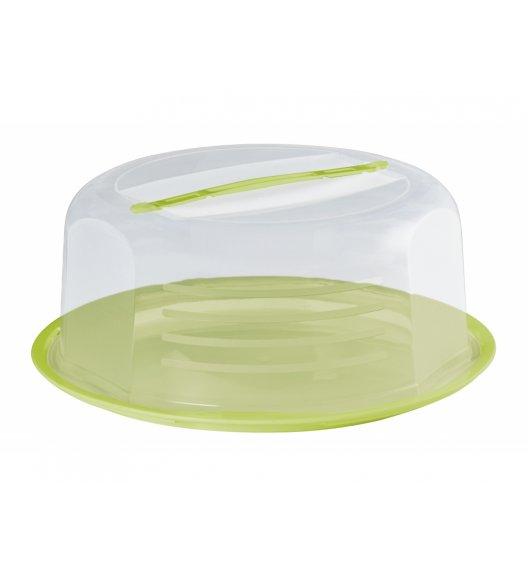 DOMOTTI DOLCE Okrągły pojemnik na ciasto z pokrywką Ø30 cm / zielony / tworzywo sztuczne / 698911