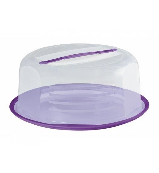 DOMOTTI DOLCE Okrągły pojemnik na ciasto z pokrywką Ø30 cm / fioletowy / tworzywo sztuczne / 698912