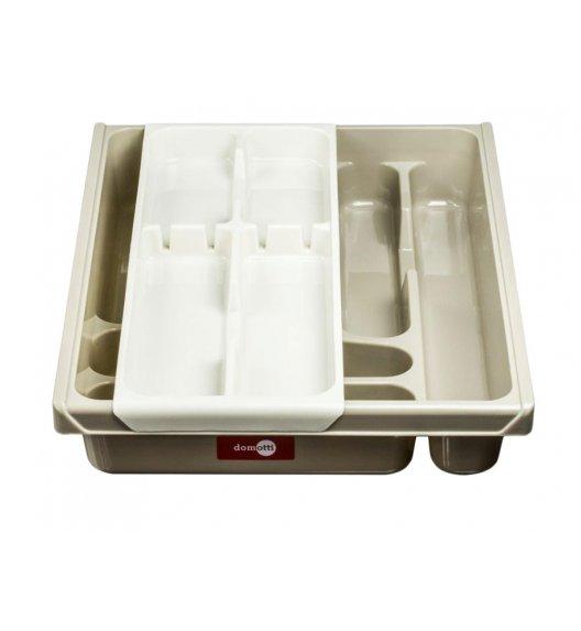 DOMOTTI DOUBLE Podwójny wkład na sztućce do szuflady 38,5 x 30,5 x 7 cm / tworzywo sztuczne / beżowy / 698932