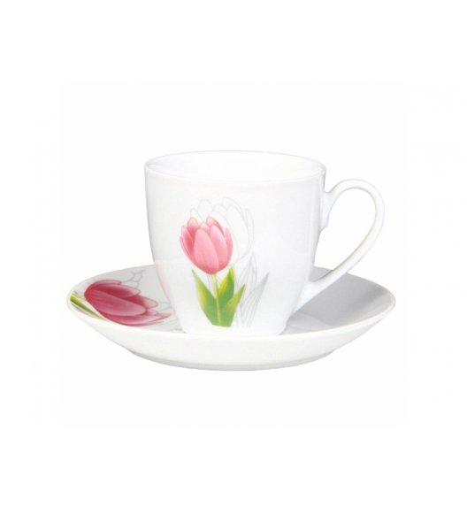 DOMOTTI TULIPAN Komplet kawowy 12 el / porcelana / 63195