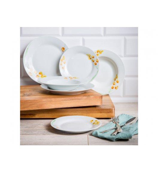 DOMOTTI TULIP Komplet obiadowy 18 el / 6 osób / porcelana / 30057