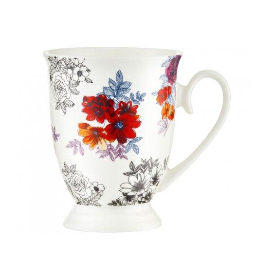 AMBITION DIANA Kubek 300 ml / czerwone kwiaty / porcelana / 63463