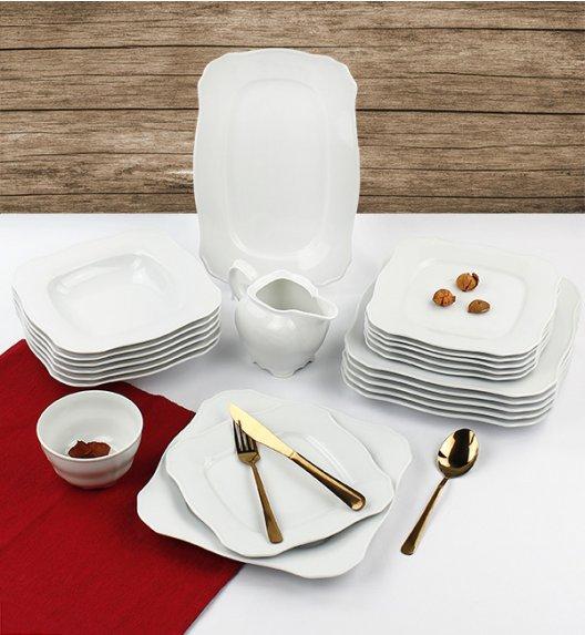 WYPRZEDAŻ! CHODZIEŻ ROMANCE C000 Serwis obiadowy 22 el / 6 osób / porcelana