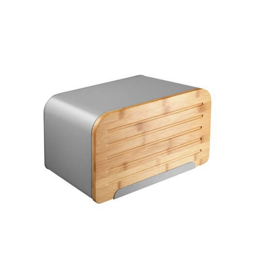 AMBITION NORDIC Chlebak z deską do krojenia 35 x 21,5 x 21,5 cm / szary