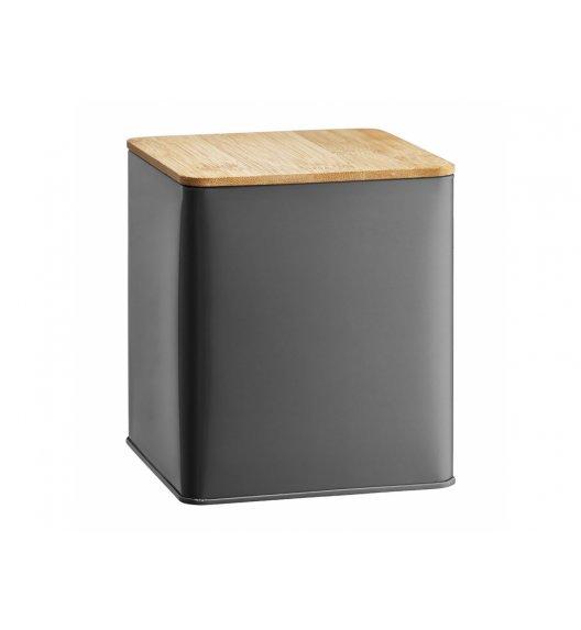 AMBITION NORDIC Puszka 1,7 l z bambusowym wieczkiem / styl skandynawski / szara