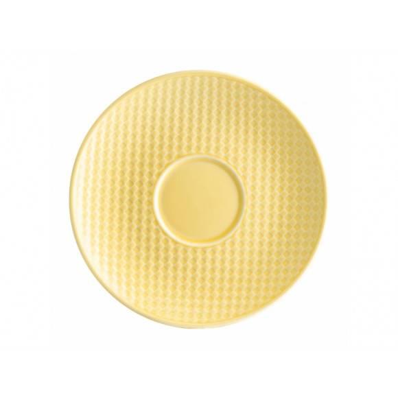 AMBITION NORDIC Spodek pod filiżankę 15,5 cm / żółty / porcelana
