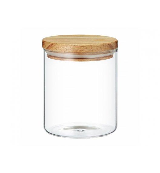 AMBITION NORDIC Pojemnik szklany z bambusowym wieczkiem 1 l / styl skandynawski