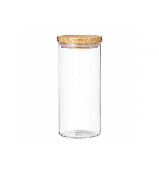 AMBITION NORDIC Pojemnik szklany z bambusowym wieczkiem 1,4 l / styl skandynawski