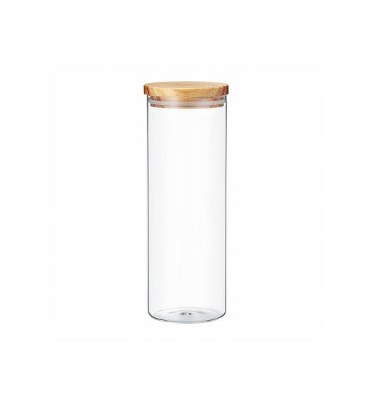 AMBITION NORDIC Pojemnik szklany z bambusowym wieczkiem 1,8 l / styl skandynawski