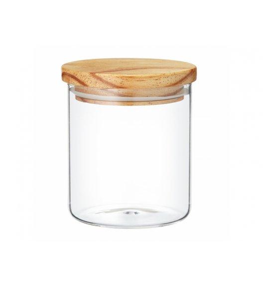 AMBITION NORDIC Pojemnik szklany z bambusowym wieczkiem 675 ml / styl skandynawski