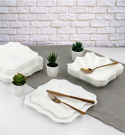 WYPRZEDAŻ! LUMINARC AUTHENTIC WHITE Serwis obiadowy 36 elementów dla 6 osób / Wyprodukowane we Francji / Domino