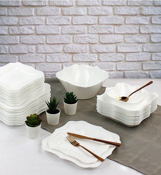 WYPRZEDAŻ! LUMINARC AUTHENTIC WHITE Serwis obiadowy 43 elementy dla 12 osób / Wyprodukowane we Francji / Domino