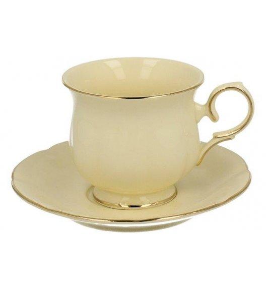DUO CLARK Filiżanka ze spodkiem 270 ml / złote zdobienia / porcelana