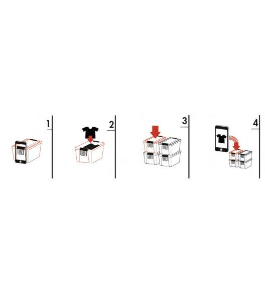 PLAST TEAM Ekologiczny pojemnik do przechowywania 53 l / BoxPointer / czarny / odelo