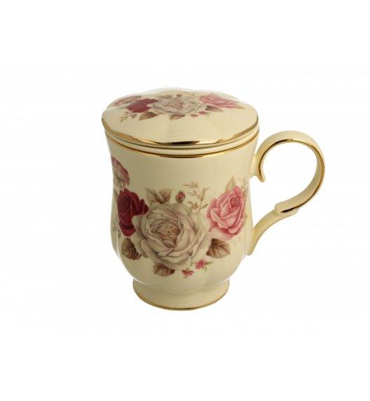 DUO FLORENS Kubek z zaparzaczem 450 ml / porcelana