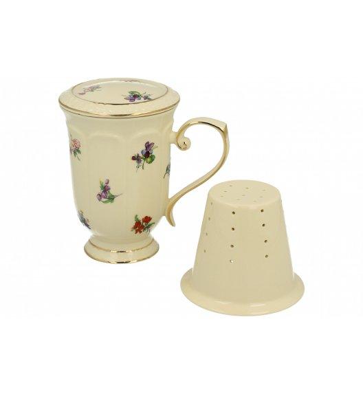 DUO ENGLAND Kubek z zaparzaczem 450 ml / porcelana
