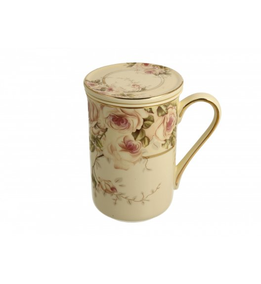 DUO ROSEMARY Kubek z zaparzaczem 450 ml / porcelana