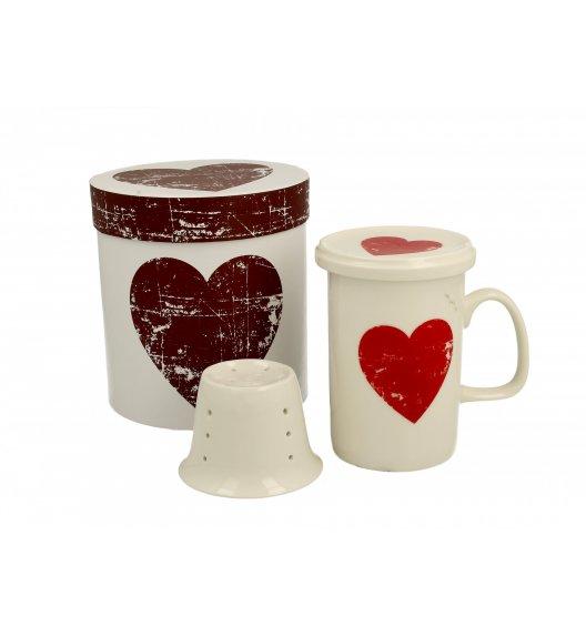 DUO SIMPLY LOVE D Kubek z zaparzaczem 320 ml  / porcelana