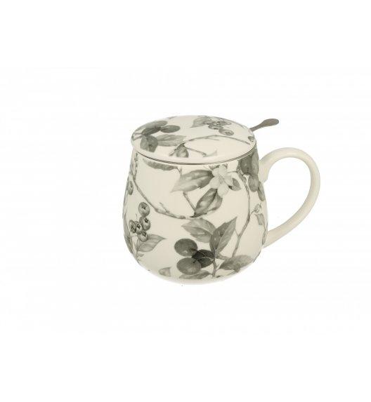 DUO AIDA Kubek z metalowym zaparzaczem 430 ml / porcelana wysokiej jakości