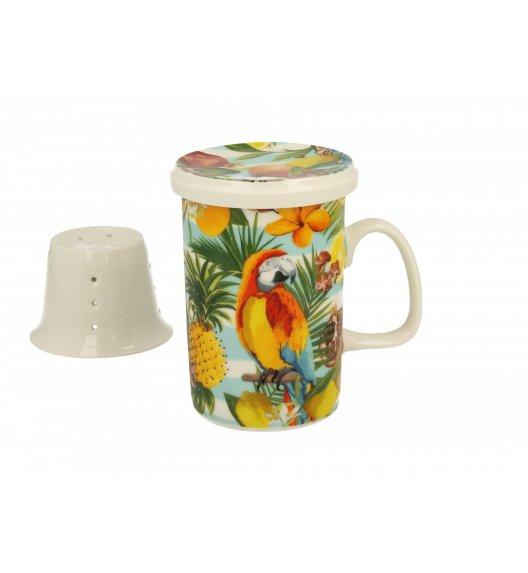 DUO ARA Kubek z zaparzaczem 300 ml / porcelana wysokiej jakości