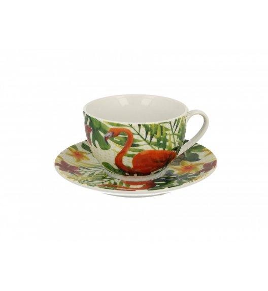 DUO FLAMINGO Filiżanka ze spodkiem 250 ml / porcelana wysokiej jakości