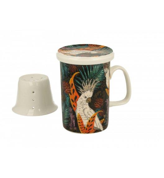 DUO KAKADU Kubek z zaparzaczem 300 ml / porcelana wysokiej jakości