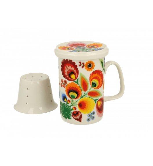 DUO ŁOWICZ Kubek z zaparzaczem 300 ml / porcelana wysokiej jakości