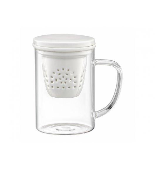 AMBITION GLAMOUR Szklany kubek z porcelanowym zaparzaczem 400 ml / 89018