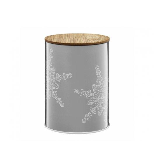 AMBITION WINTER Puszka 1,2 l z bambusowym wieczkiem / śnieżynki / 29590