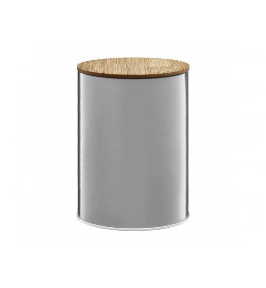 AMBITION WINTER Puszka 1,2 l z bambusowym wieczkiem / srebrna / 29591